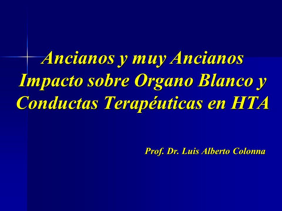 Ancianos y muy Ancianos Impacto sobre Organo Blanco y Conductas Terapéuticas en HTA