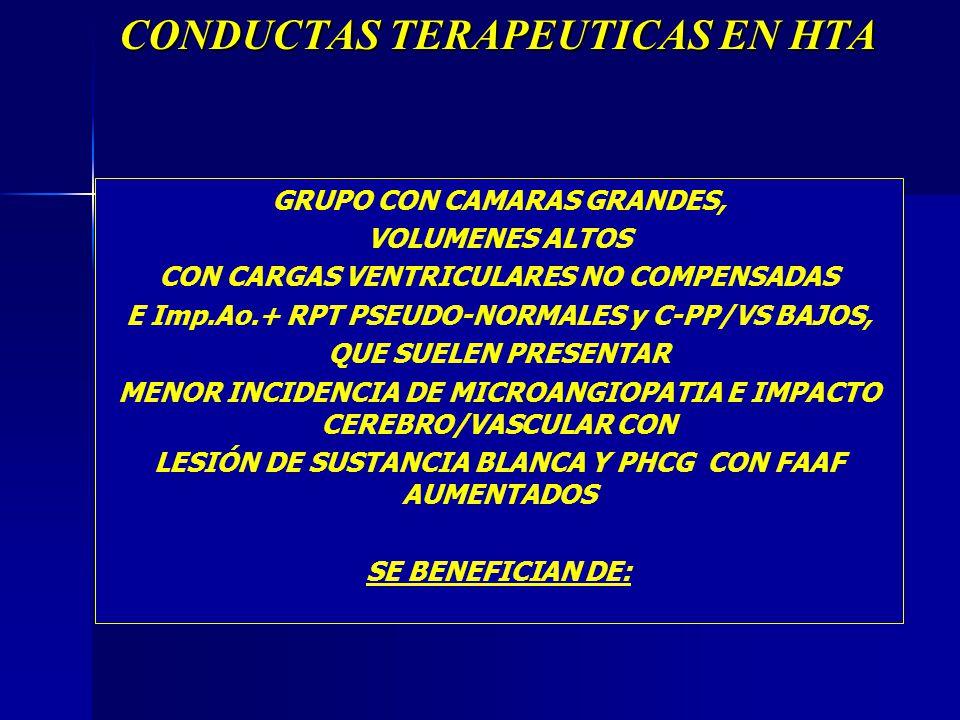 CONDUCTAS TERAPEUTICAS EN HTA