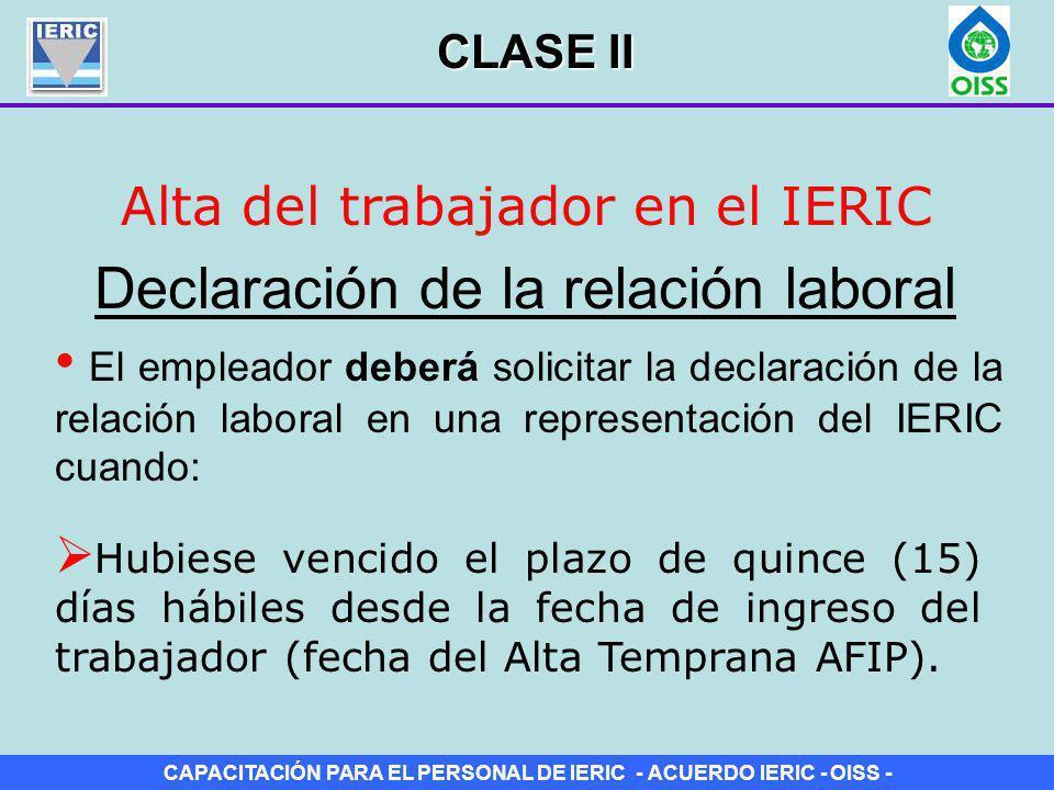 Declaración de la relación laboral