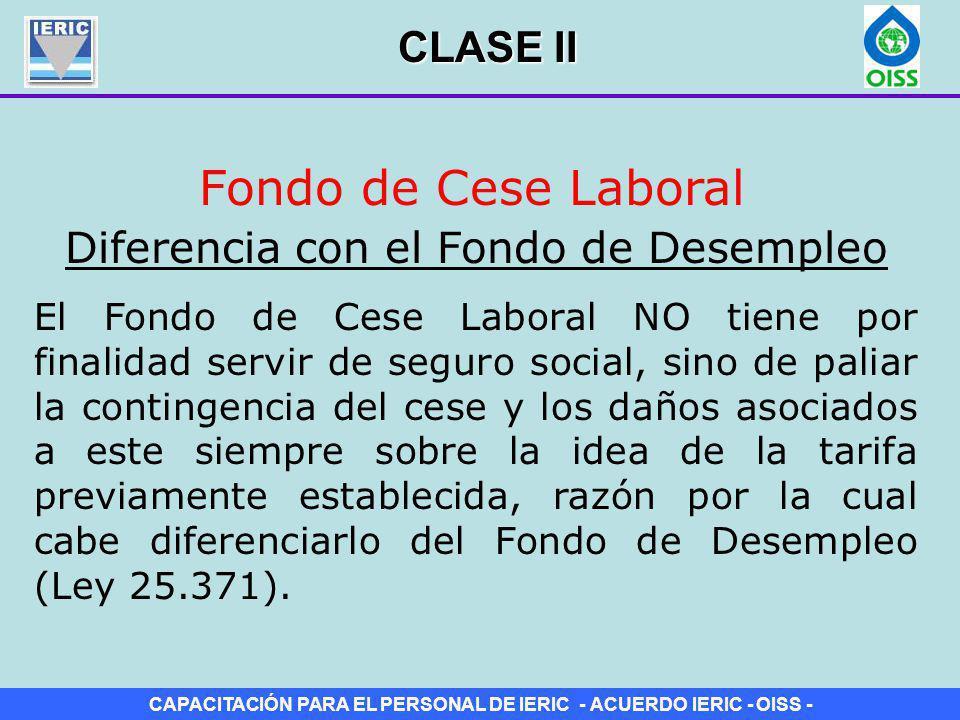 Diferencia con el Fondo de Desempleo