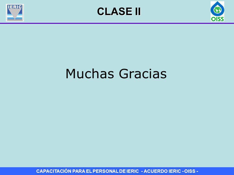 CLASE II Muchas Gracias