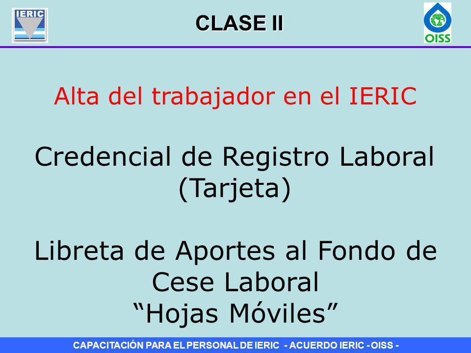 Credencial de Registro Laboral (Tarjeta)