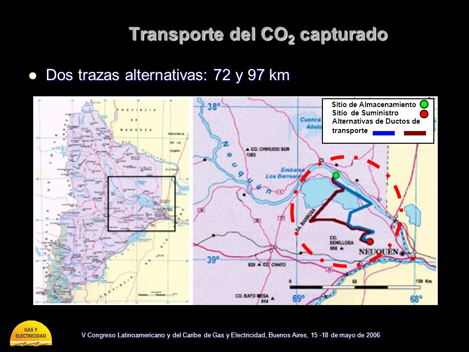 Transporte del CO2 capturado