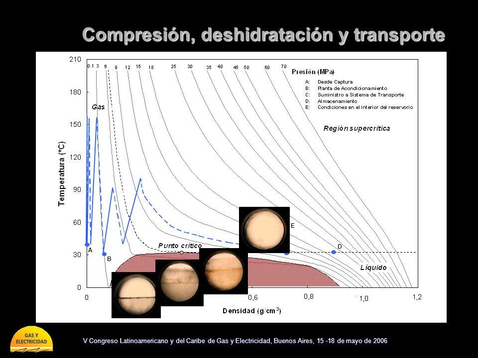 Compresión, deshidratación y transporte