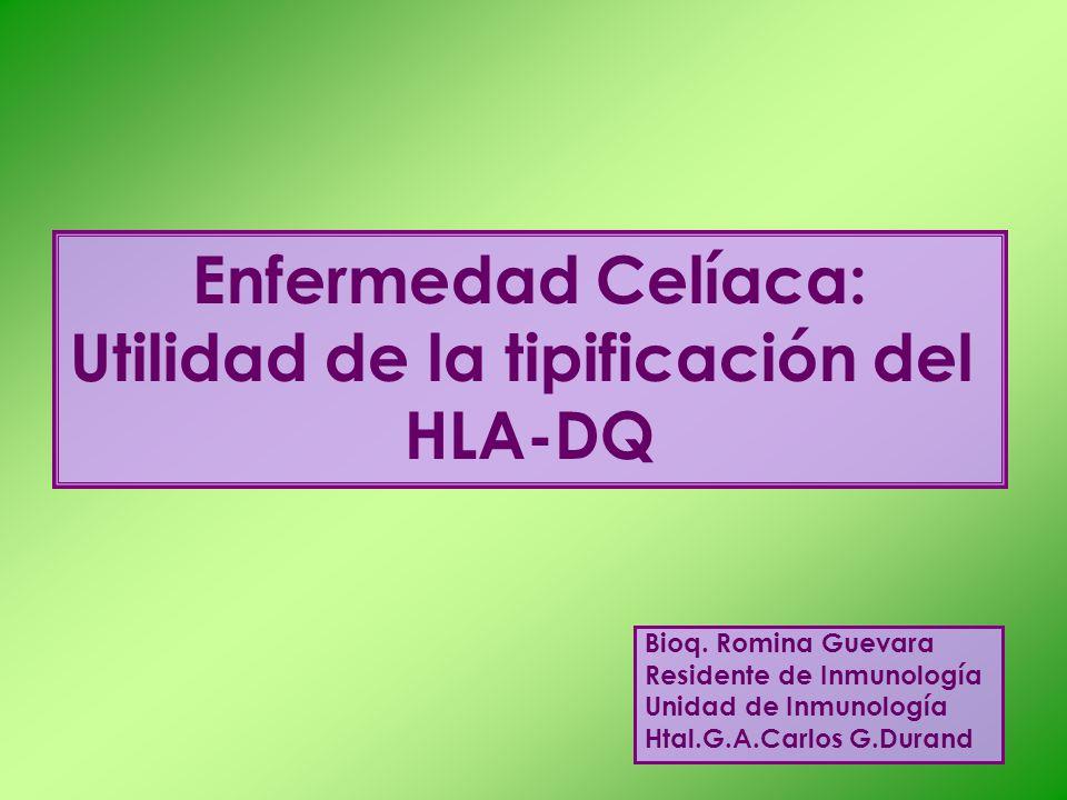 Utilidad de la tipificación del HLA-DQ
