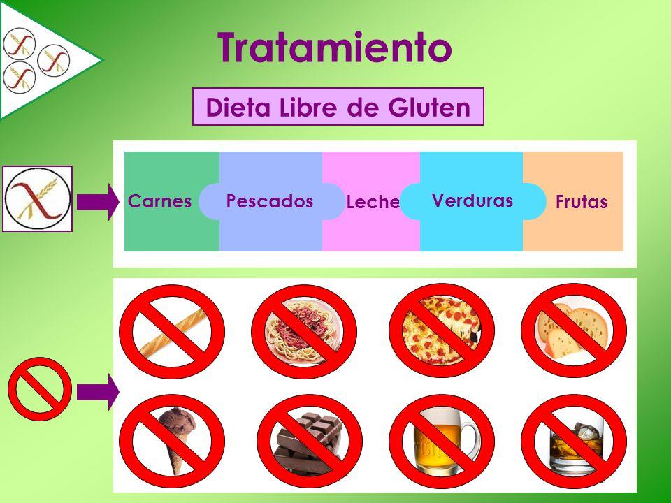 Tratamiento Dieta Libre de Gluten Carnes Pescados Verduras Leche