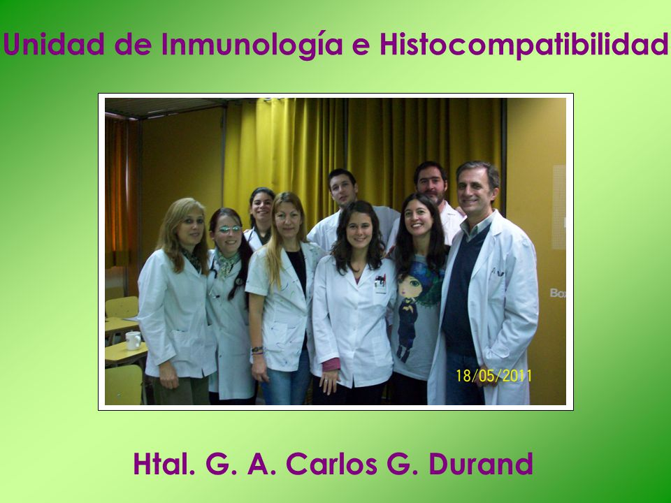 Unidad de Inmunología e Histocompatibilidad