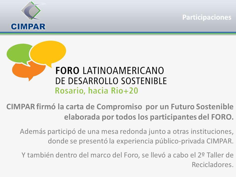 Participaciones CIMPAR firmó la carta de Compromiso por un Futuro Sostenible elaborada por todos los participantes del FORO.