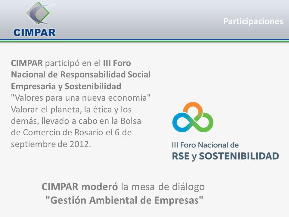 CIMPAR moderó la mesa de diálogo Gestión Ambiental de Empresas