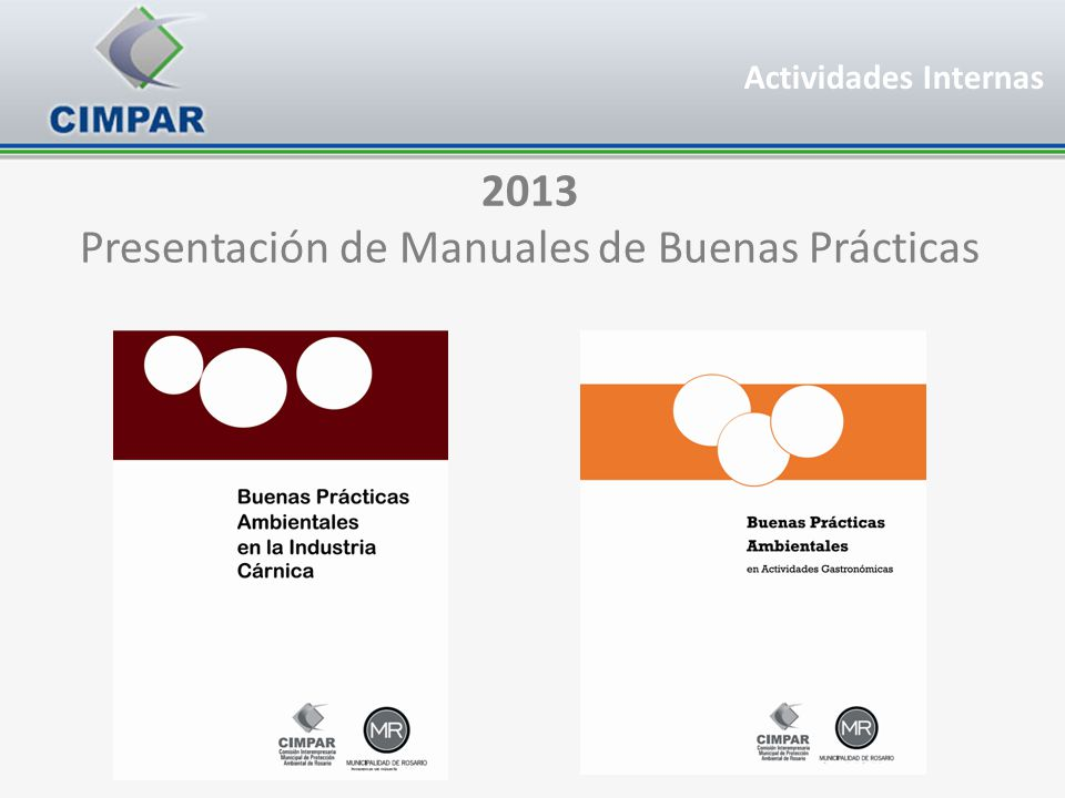 Presentación de Manuales de Buenas Prácticas