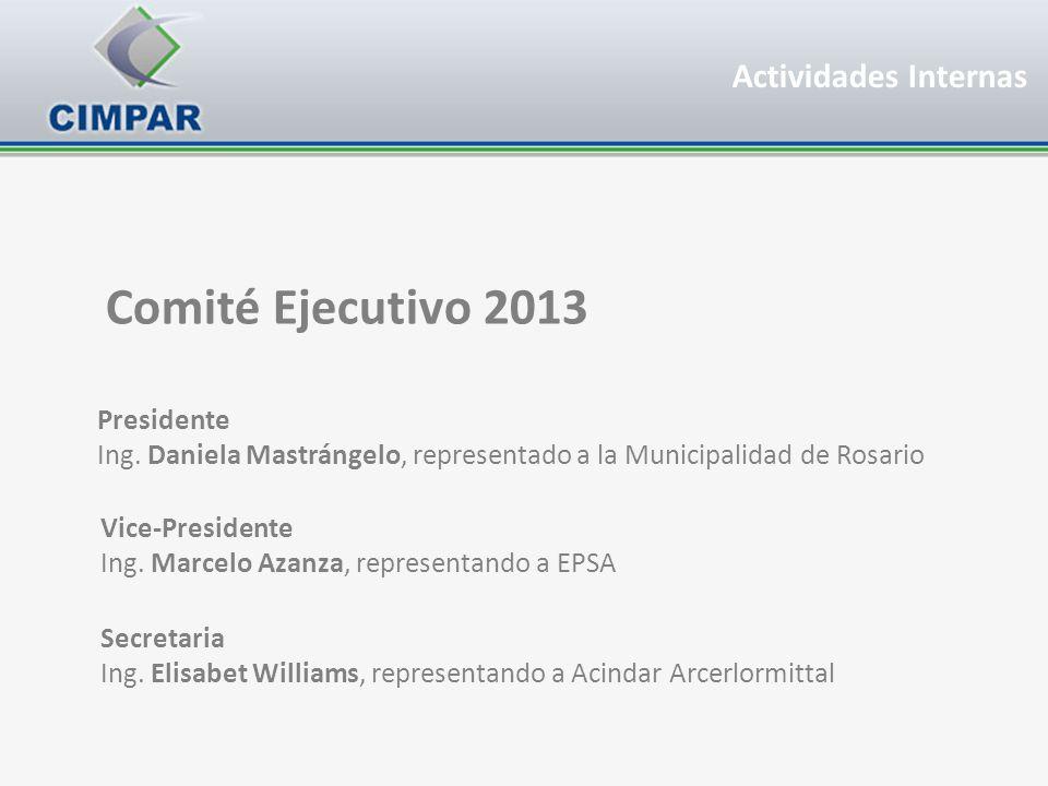Comité Ejecutivo 2013 Actividades Internas Presidente