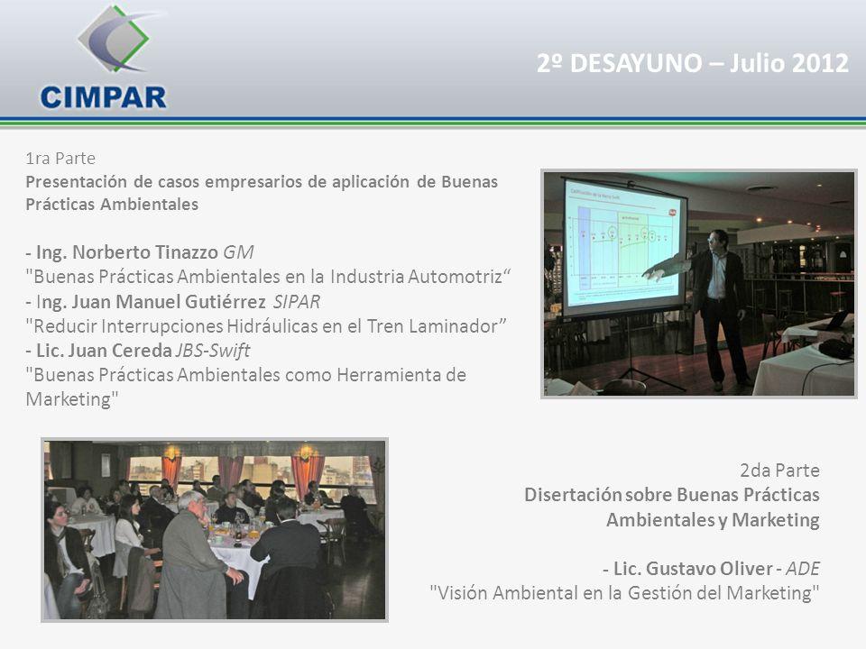 2º DESAYUNO – Julio 2012 - Ing. Norberto Tinazzo GM