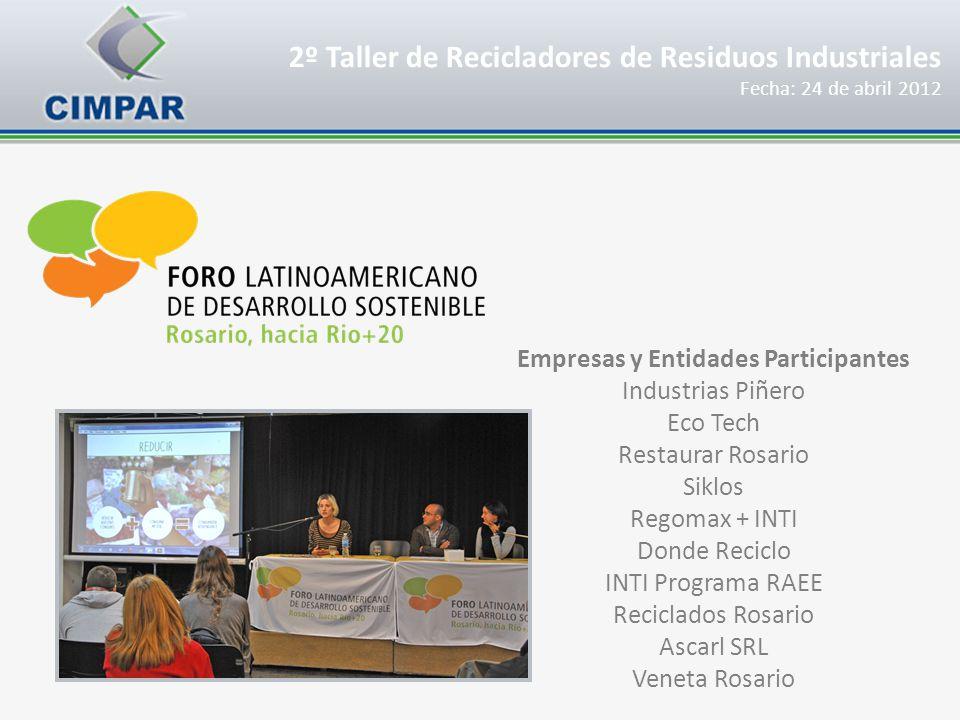 Empresas y Entidades Participantes