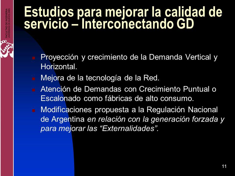 Estudios para mejorar la calidad de servicio – Interconectando GD