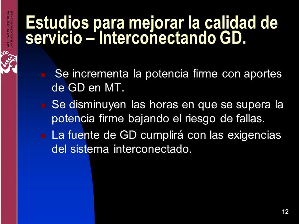 Estudios para mejorar la calidad de servicio – Interconectando GD.
