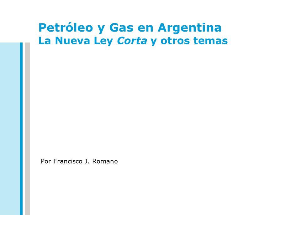 Petróleo y Gas en Argentina La Nueva Ley Corta y otros temas