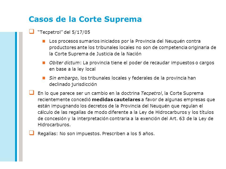 Casos de la Corte Suprema