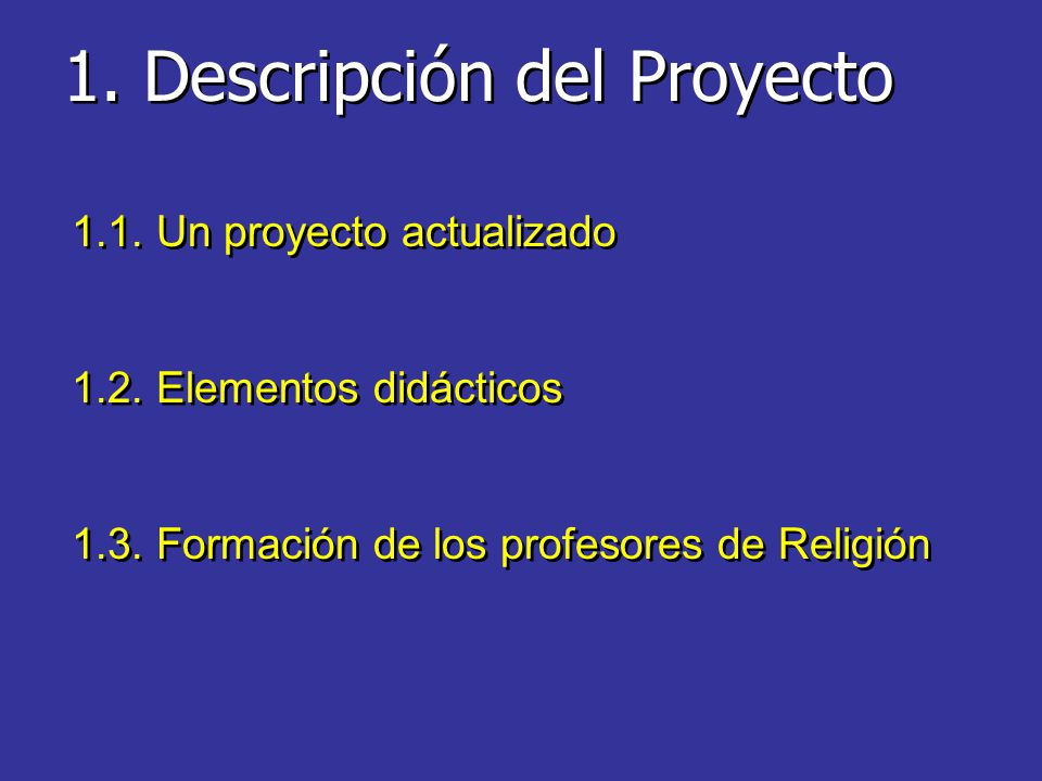 1. Descripción del Proyecto