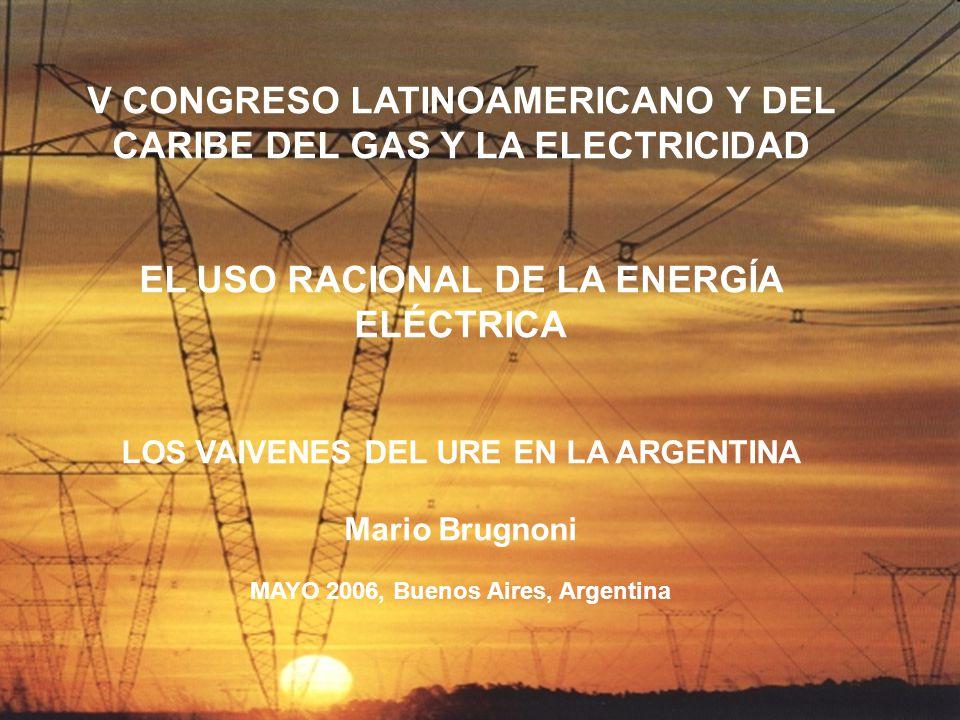 V CONGRESO LATINOAMERICANO Y DEL CARIBE DEL GAS Y LA ELECTRICIDAD