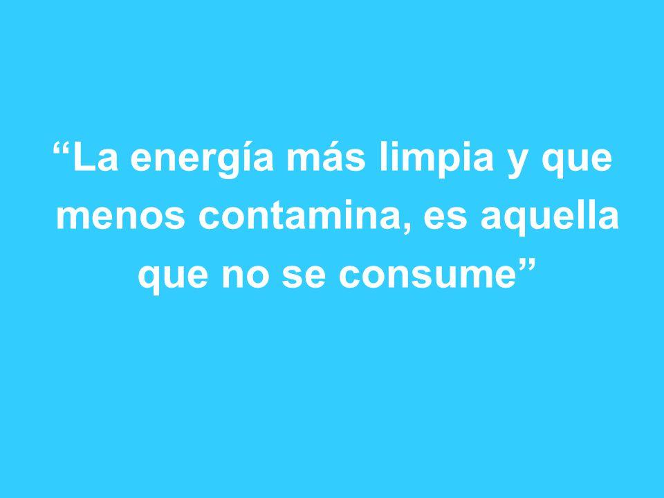 La energía más limpia y que menos contamina, es aquella