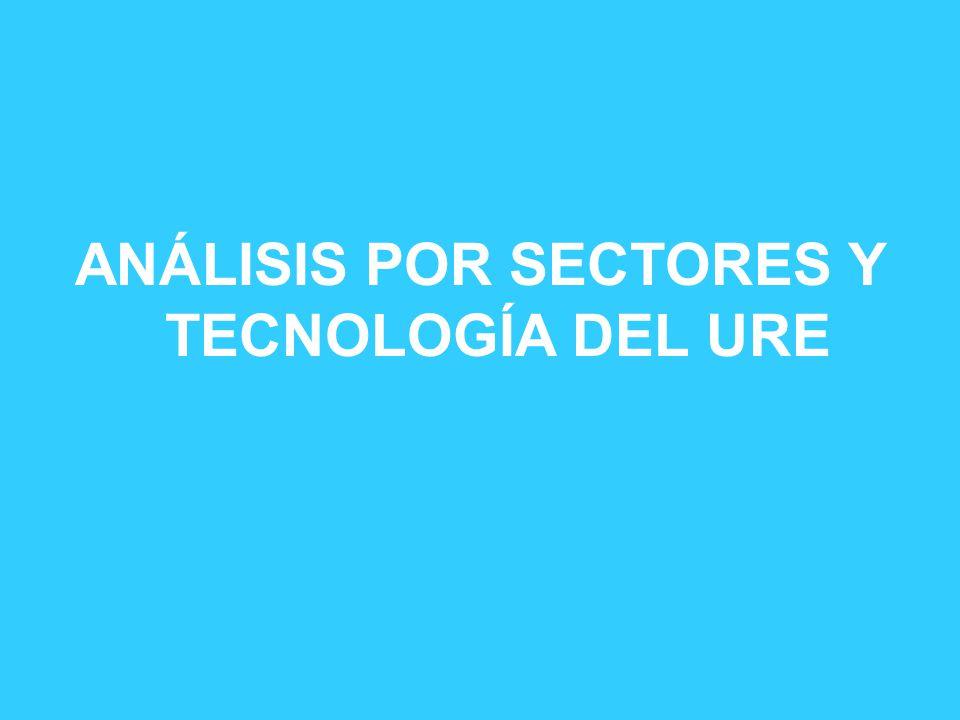 ANÁLISIS POR SECTORES Y TECNOLOGÍA DEL URE