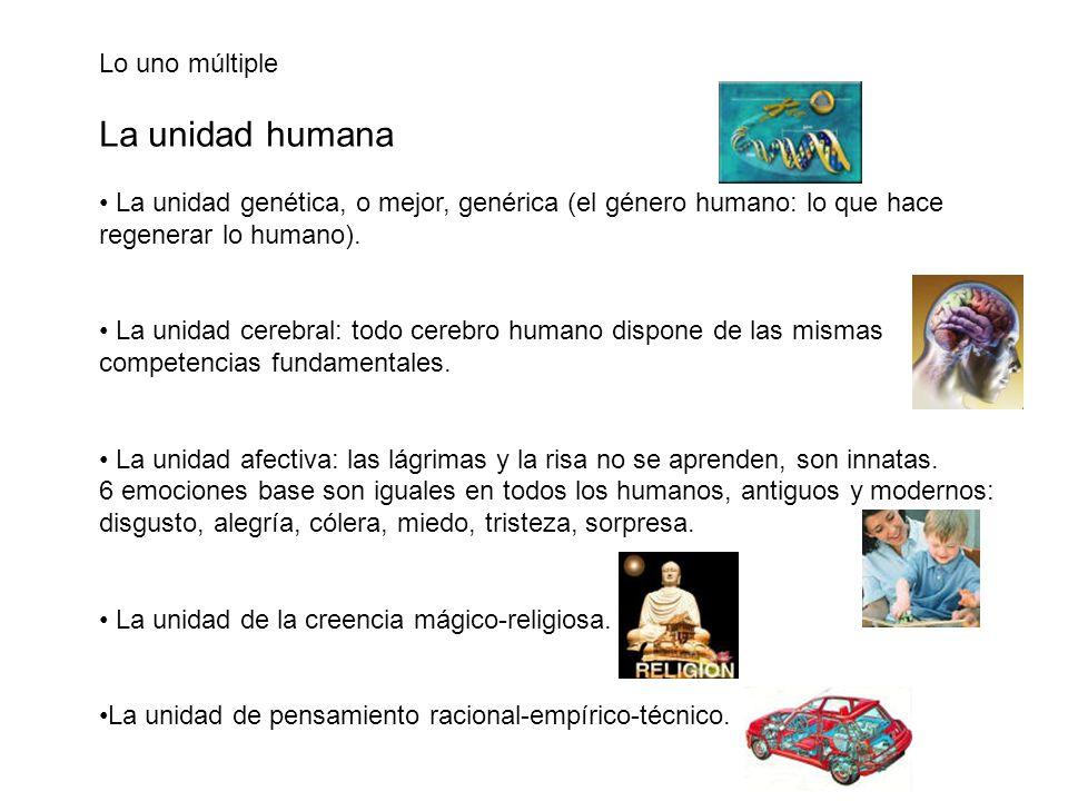 La unidad humana Lo uno múltiple