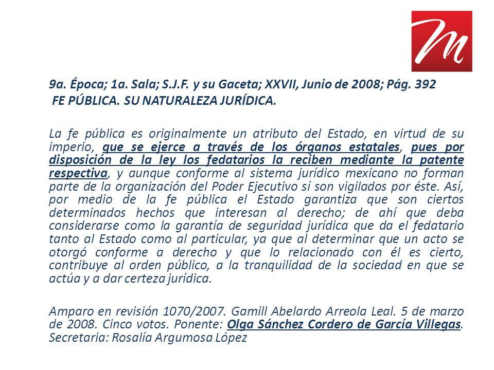 9a. Época; 1a. Sala; S. J. F. y su Gaceta; XXVII, Junio de 2008; Pág