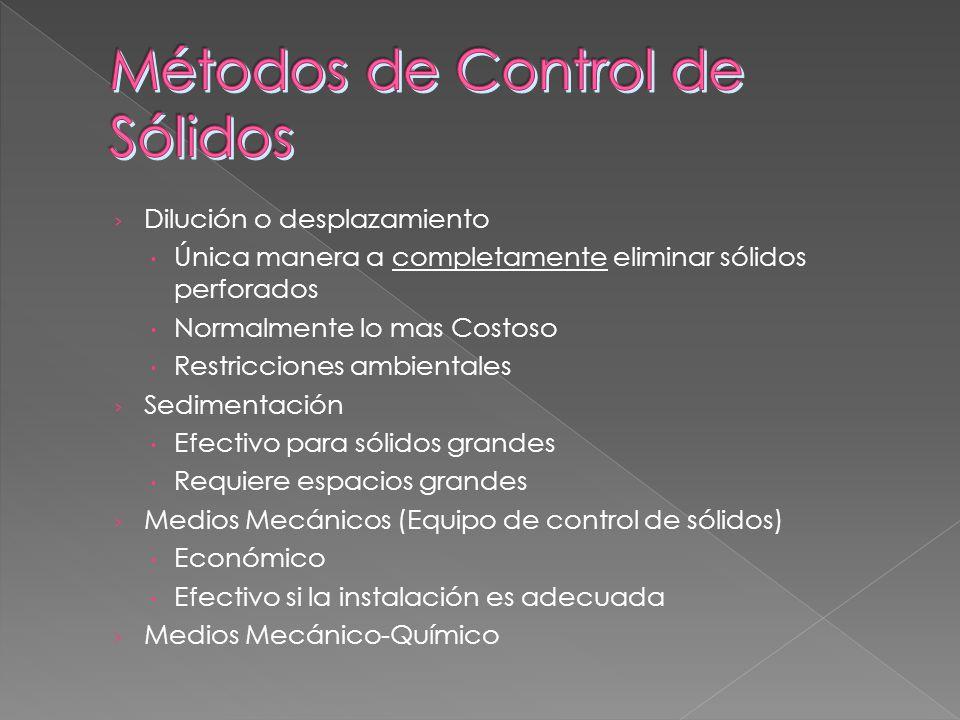 Métodos de Control de Sólidos