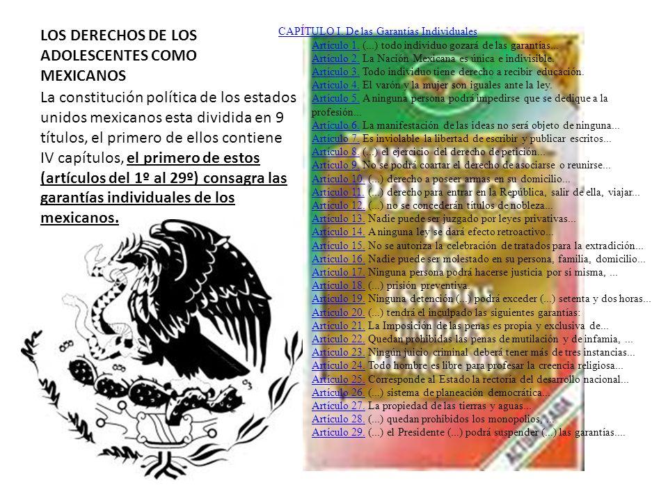 LOS DERECHOS DE LOS ADOLESCENTES COMO MEXICANOS