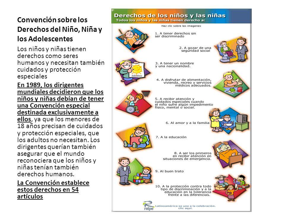Convención sobre los Derechos del Niño, Niña y los Adolescentes