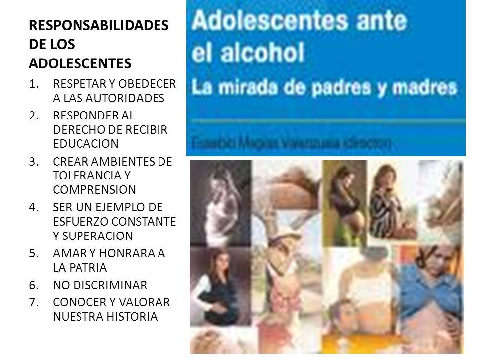 RESPONSABILIDADESDE LOS ADOLESCENTES