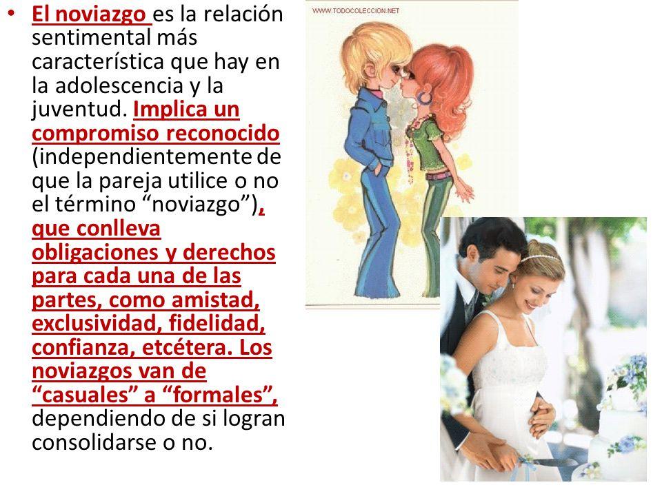 El noviazgo es la relación sentimental más característica que hay en la adolescencia y la juventud.