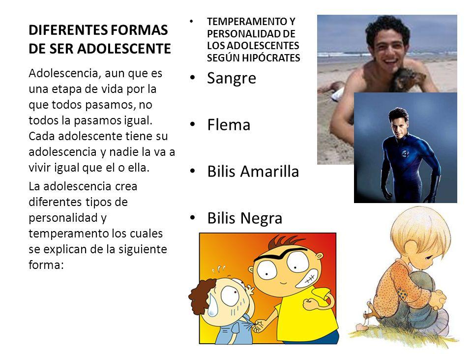 DIFERENTES FORMAS DE SER ADOLESCENTE