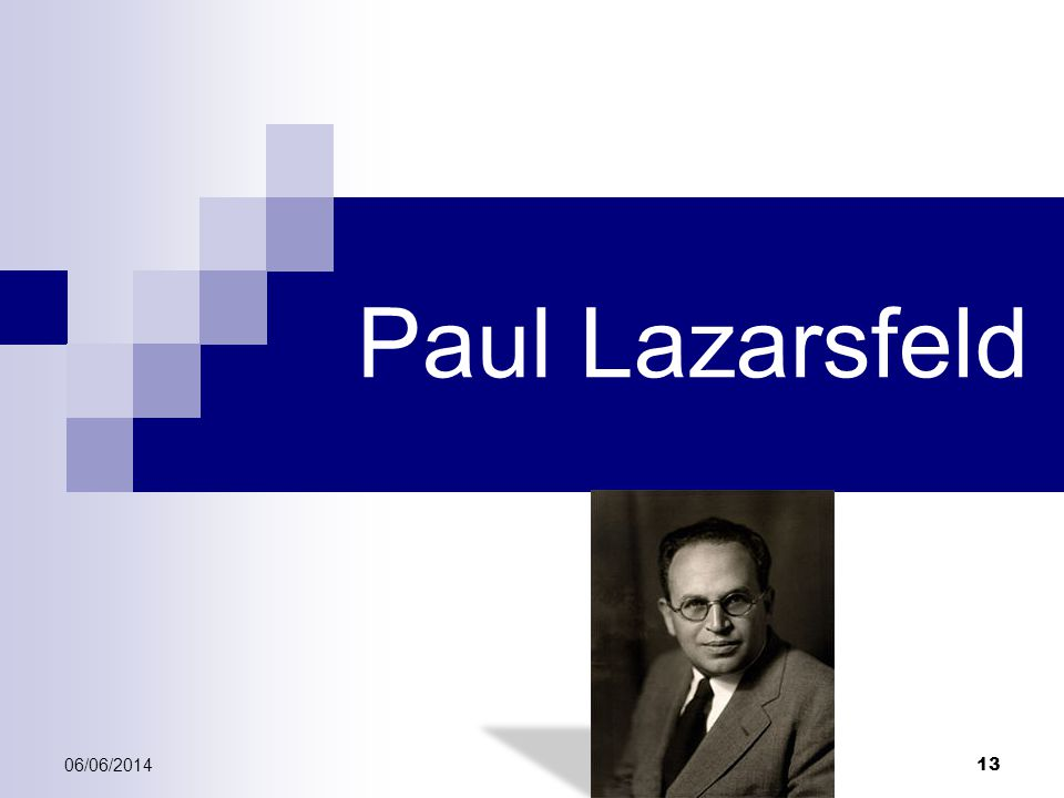 Paul Lazarsfeld 01/04/2017