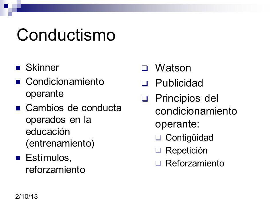 Conductismo Watson Publicidad