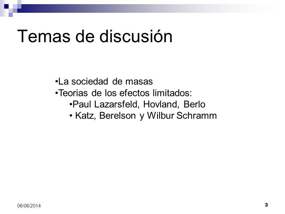 Temas de discusión La sociedad de masas