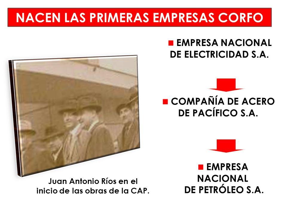 NACEN LAS PRIMERAS EMPRESAS CORFO