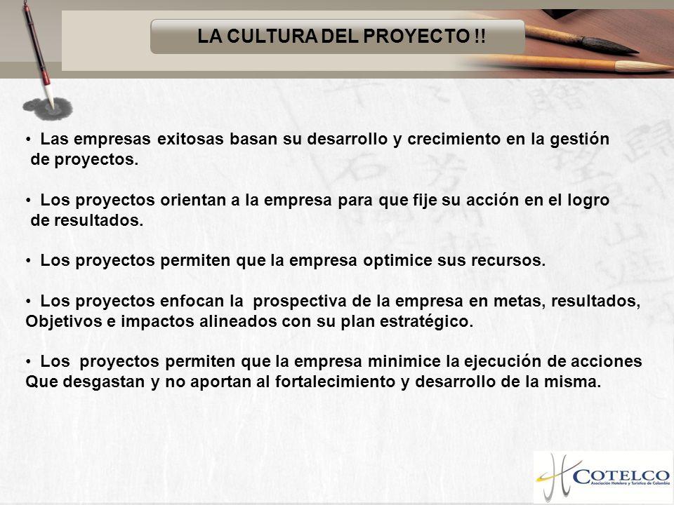 LA CULTURA DEL PROYECTO !!