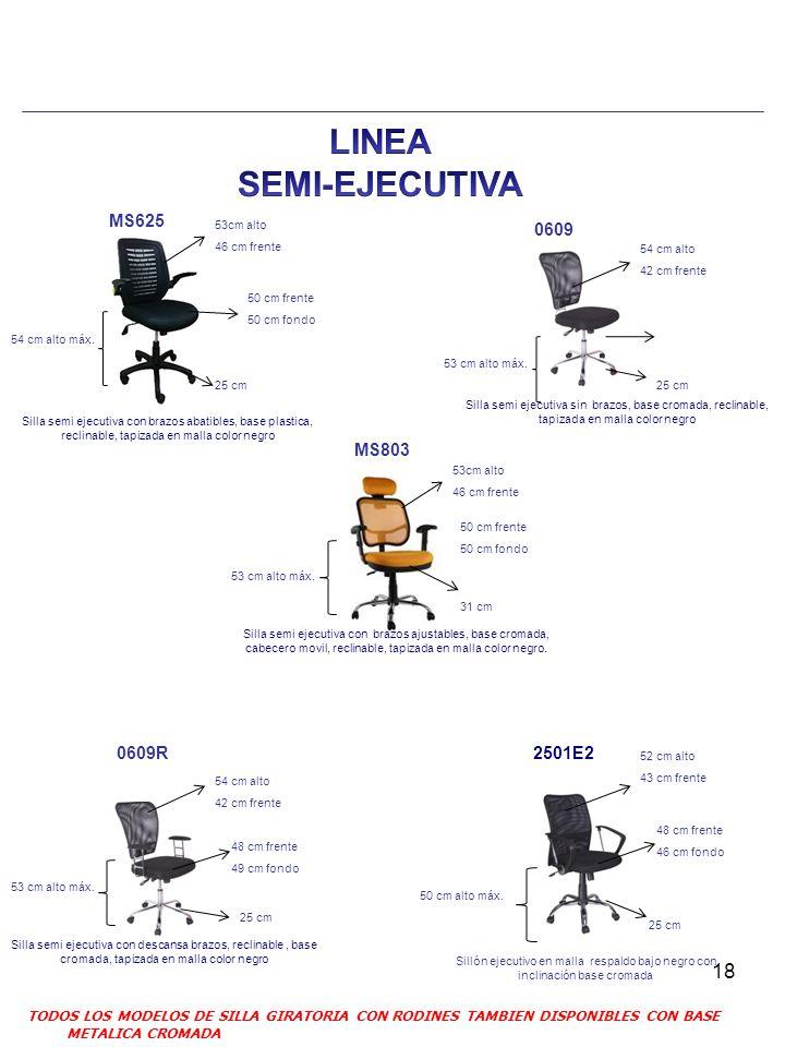 LINEA SEMI-EJECUTIVA MS625 0609 MS803 0609R 2501E2