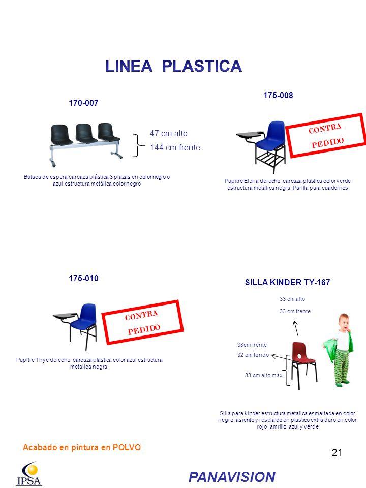 LINEA PLASTICA PANAVISION 175-008 170-007 CONTRA PEDIDO 47 cm alto