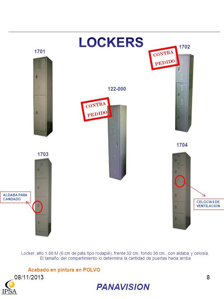 LOCKERS PANAVISION 08/11/2013 1702 1701 CONTRA PEDIDO 122-000 CONTRA
