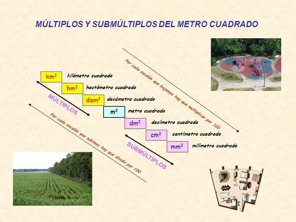 MÚLTIPLOS Y SUBMÚLTIPLOS DEL METRO CUADRADO