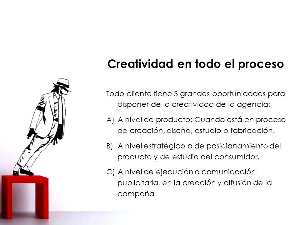 Creatividad en todo el proceso