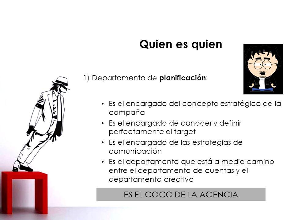 1) Departamento de planificación: