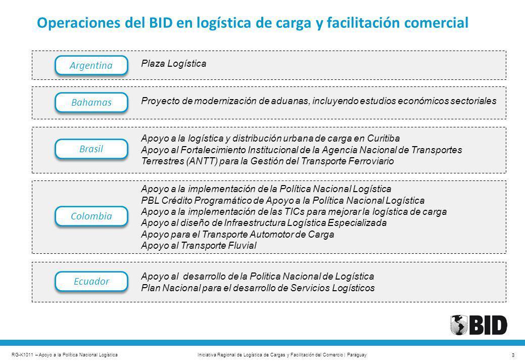 Operaciones del BID en logística de carga y facilitación comercial