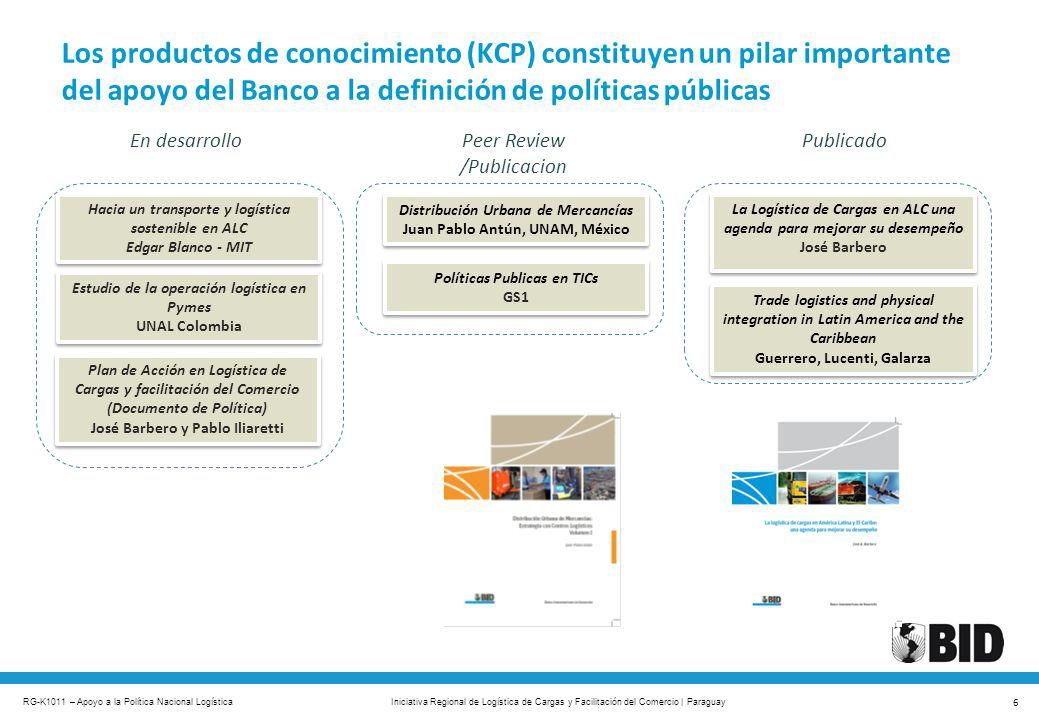 Los productos de conocimiento (KCP) constituyen un pilar importante del apoyo del Banco a la definición de políticas públicas