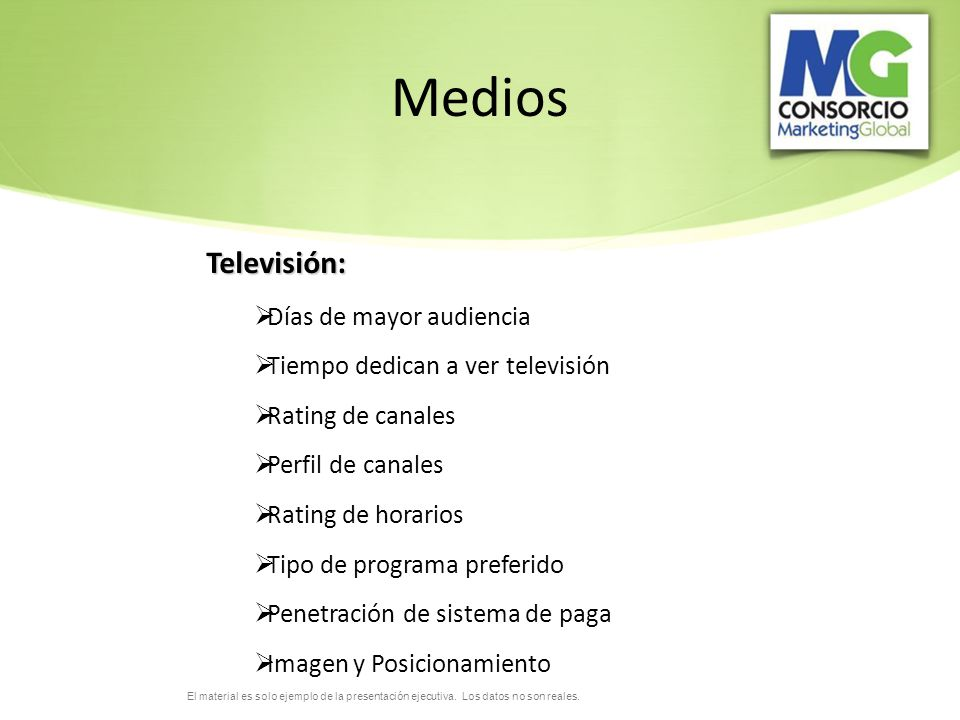 Medios Televisión: Días de mayor audiencia