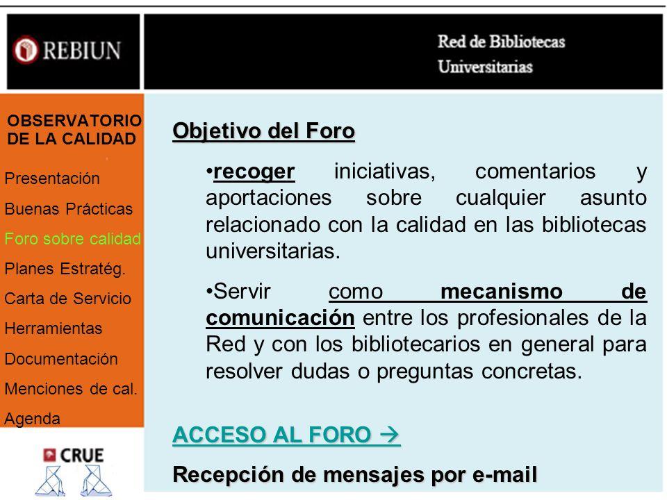 OBSERVATORIO DE LA CALIDAD