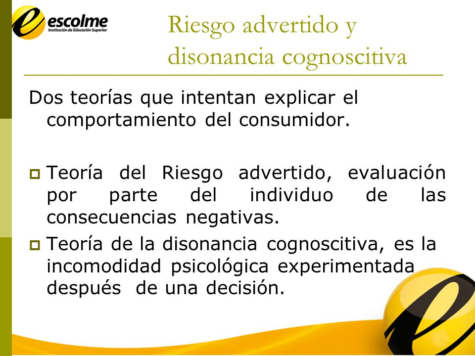 Riesgo advertido y disonancia cognoscitiva