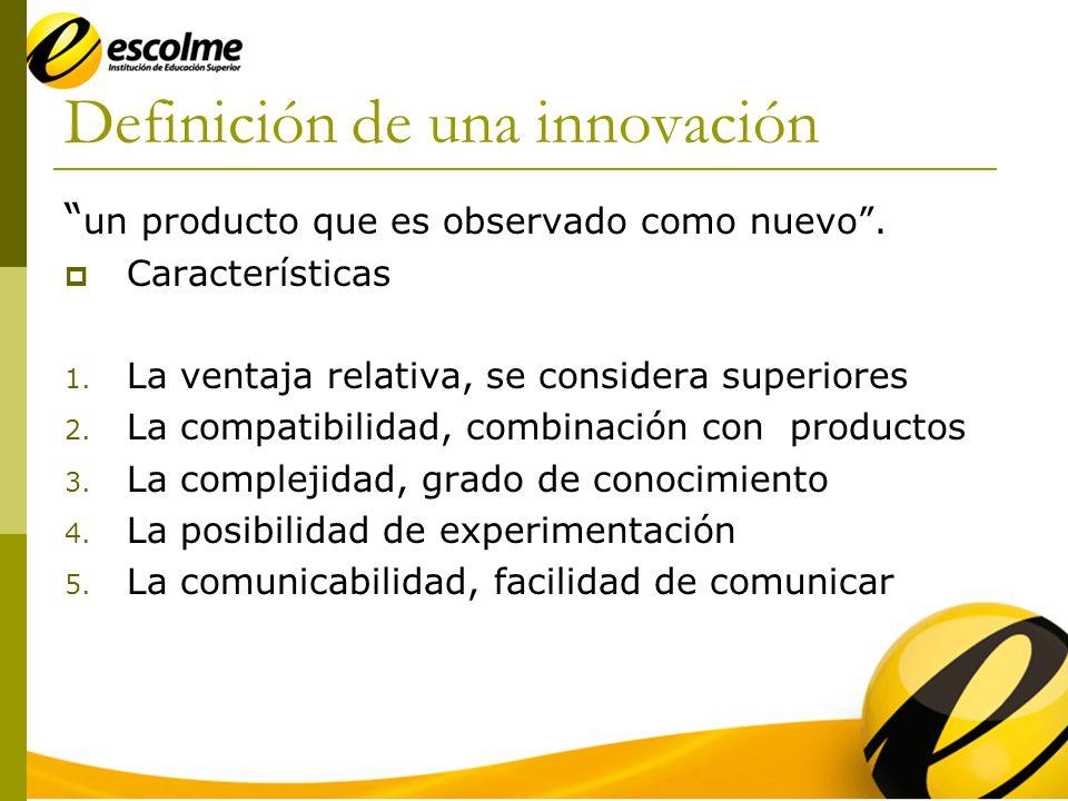 Definición de una innovación